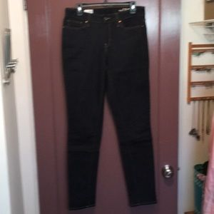 Dark wash Gap jeans and LONG!